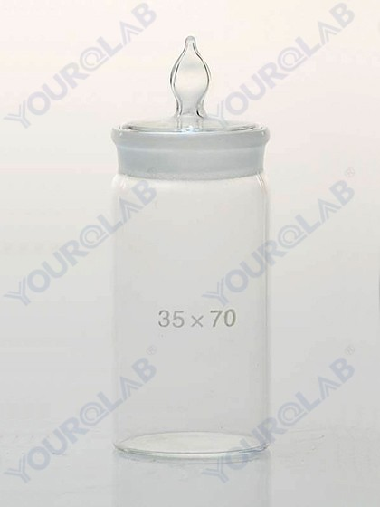 WEIGHING BOTTLE tall form,with ground-in glass stopper
